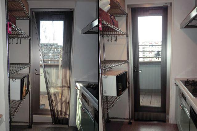 名古屋市中区 マンション勝手口ドアへの網戸工事