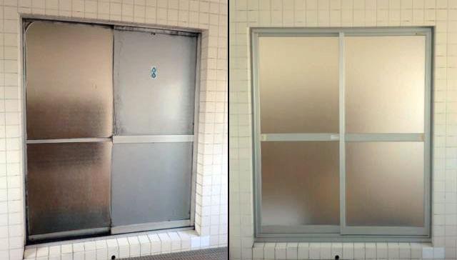 知多市 浴室引戸の取替