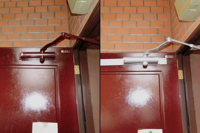 玄関ドア ドアクローザー取替 名古屋市名東区