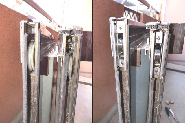 窓の開閉不具合 サッシ戸車修理 交換 名古屋市天白区