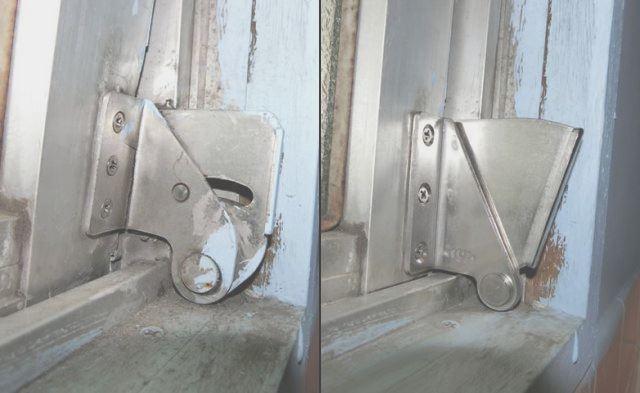 サッシ修理 内倒し窓の開閉不具合補修 名古屋市瑞穂区
