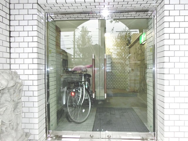 マンションエントランスドア改修 両開きテンパドア 名古屋市昭和区