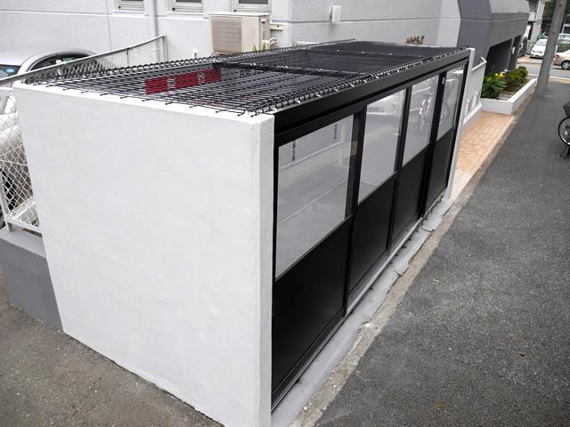 マンションゴミ置き場改修 メッシュ引戸タイプ 1 名古屋市中区