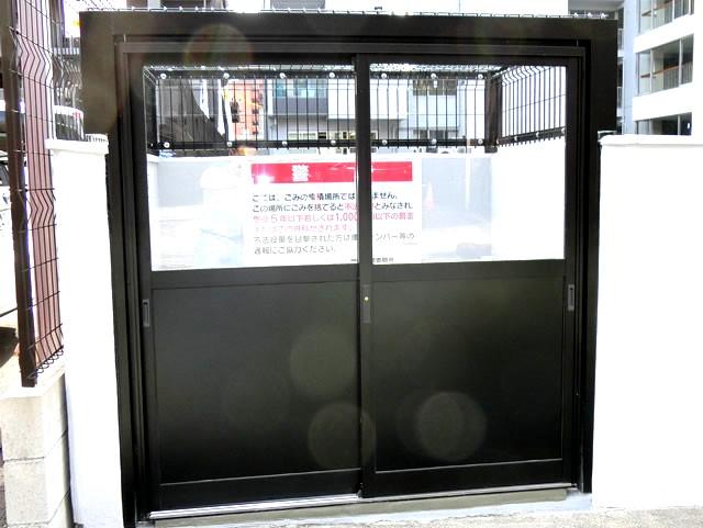 マンションゴミ置き場改修 メッシュ引戸タイプ 2 名古屋市中区