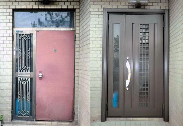 名古屋市北区 玄関ドアリフォーム工事