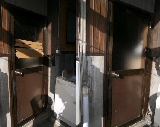 名古屋市 戸建て ガラスドア修理