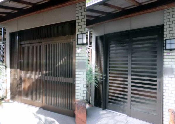 岩倉市 玄関引戸のリフォーム工事