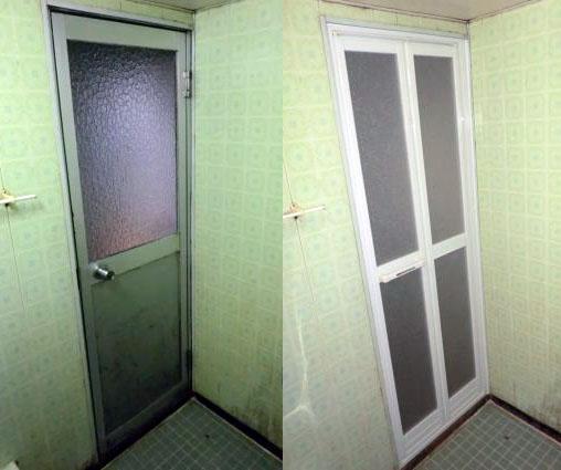 春日井市 浴室ドアの取替