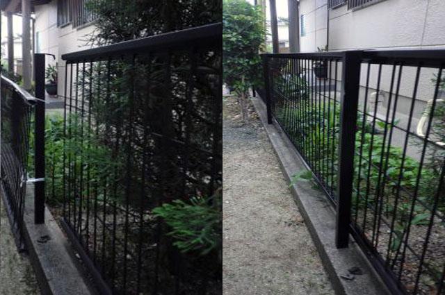 名古屋市緑区 フェンスの補修工事