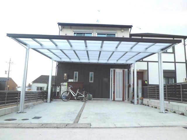 カーポート 2台用 LIXILアーキデュオ プレミアムワイド 名古屋市天白区