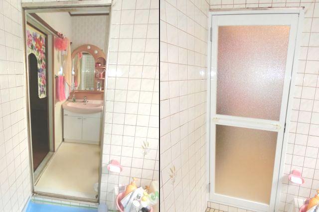 浴室ドア取替 LIXILロンカラー浴室用 名古屋市守山区