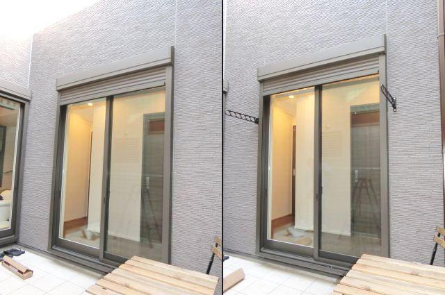 物干し金物取付 壁付けタイプ 名古屋市熱田区