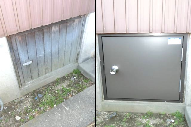木製扉からアルミ扉へ取替 名古屋市港区