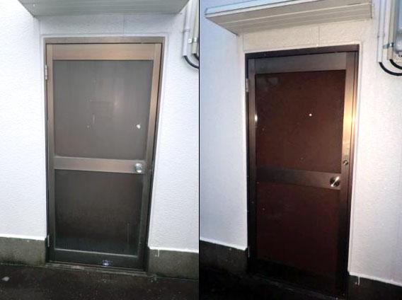 春日井市 事務所のドア取替
