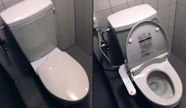 名古屋市中区 トイレ取替工事 TOTOウォシュレット