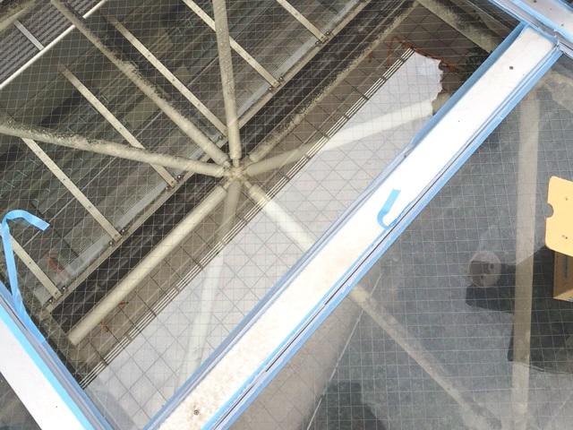 トップライト ガラス修理 交換 名古屋市熱田区