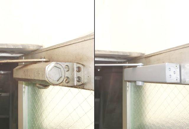 事務所入口ドア ドアクローザー取替 名古屋市中川区