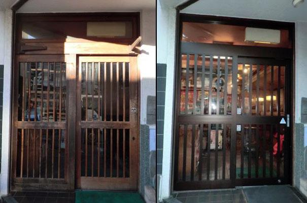 名古屋市 店舗自動ドア 改修