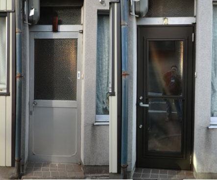 名古屋市 勝手口ドア取付