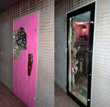 名古屋市 店舗入口スチールドアからアルミ框ドアへの取替