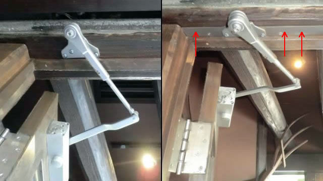 名古屋市東区 ドアクローザーのブラケット修理